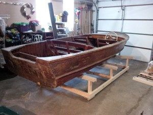 Boat on its cradle